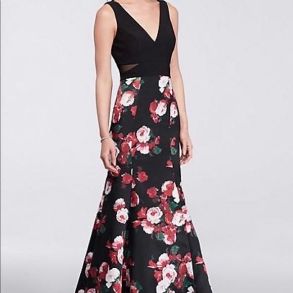 54% off Xscape Dresses Illusion Floralprint Mermaid Gown | Poshmark
